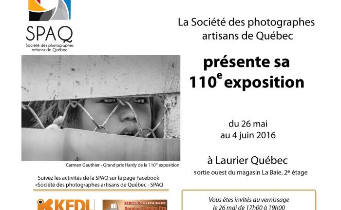 La Société des Photographes Artisans deQuébec.